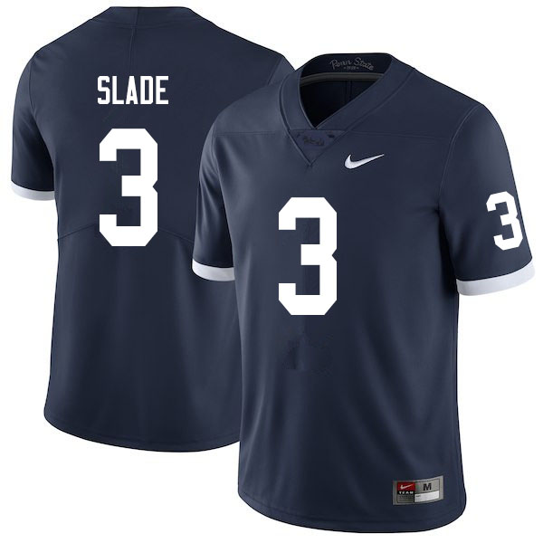 Men #3 Ricky Slade Penn State Nittany Lions College Throwback Football Jerseys Sale-Navy